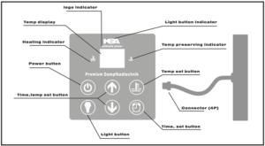 sauna touch controller