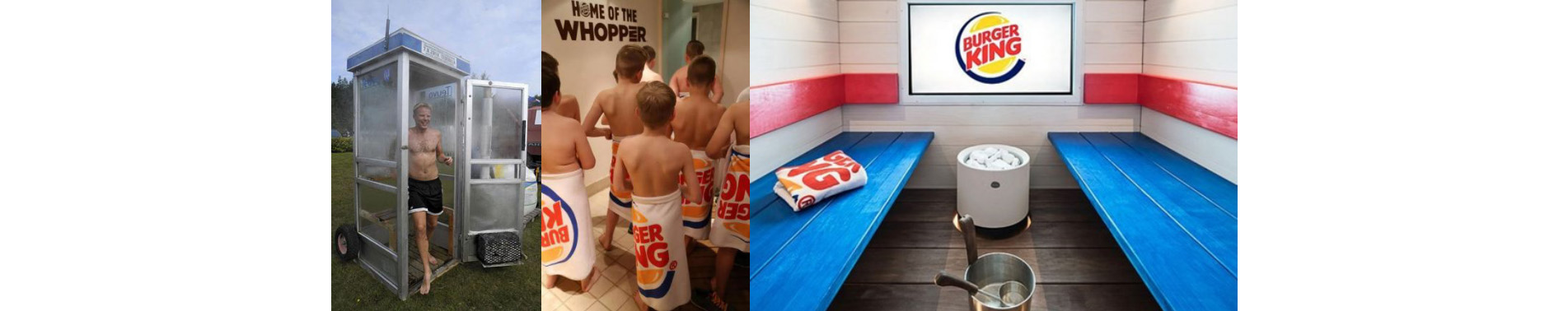 sauna in burgerking